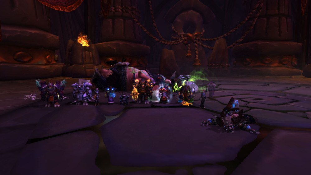 The beginning of Warlords raiding
