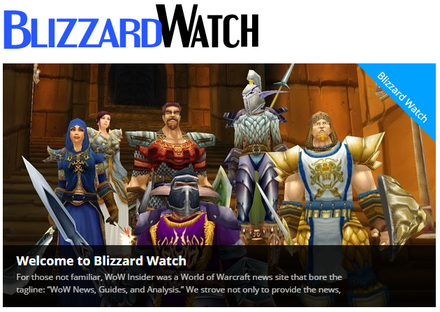 Blizzard Watch rises from WoW Insider's ashes